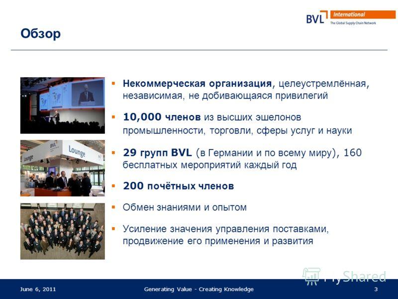 BVL это …... открытое сообщество людей, которые стремятся к эффективному взаимодействию в мировом секторе промышленности.... добровольное объединение управляющего персонала и ответственных лиц из различных секторов мировой промышленности, науки и пол