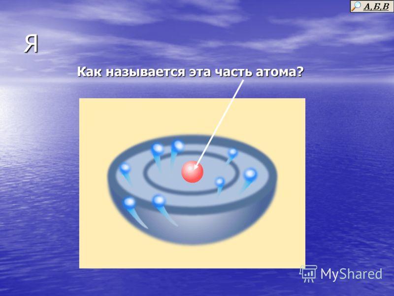 Я Как называется эта часть атома?