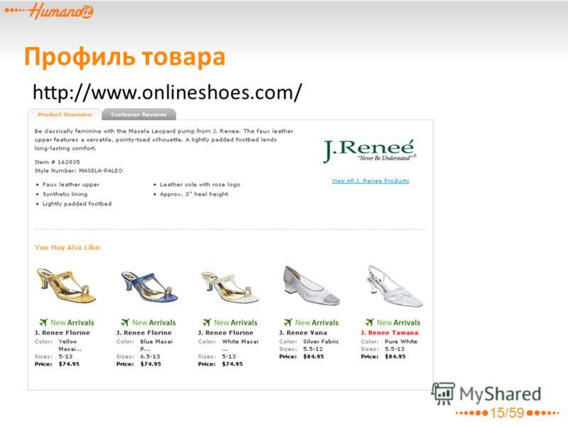 Профиль товара http://www.onlineshoes.com/ 15/59