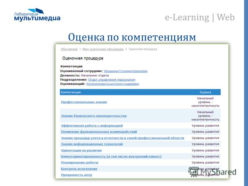 e-Learning | Web Оценка по компетенциям