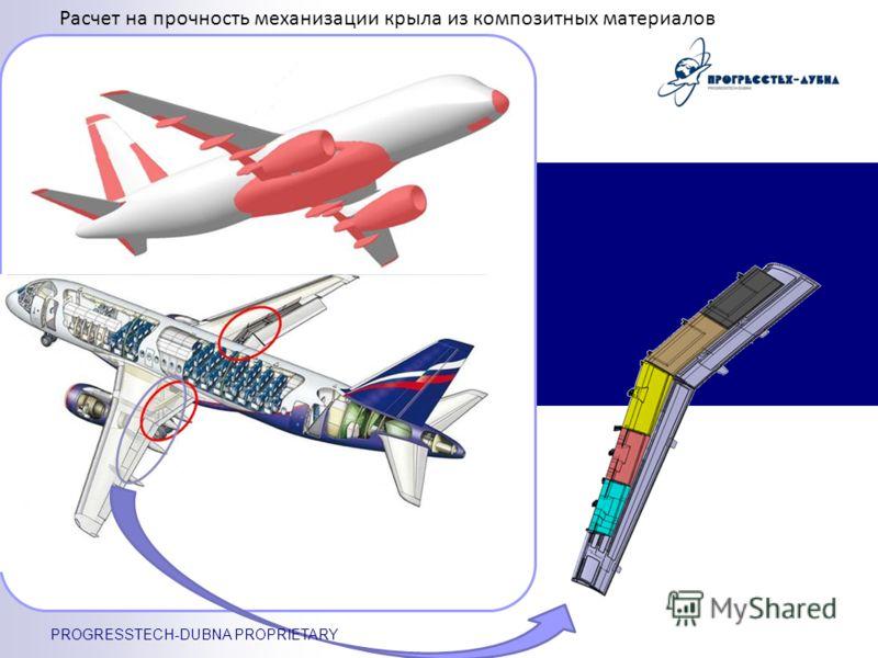 Расчет на прочность механизации крыла из композитных материалов PROGRESSTECH-DUBNA PROPRIETARY