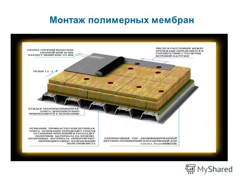 Монтаж полимерных мембран