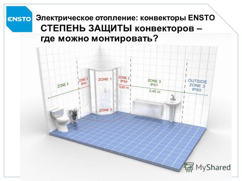 Продуктовая линейка ENSTO23 Электрическое отопление: конвекторы ENSTO МОНТАЖ TUPA