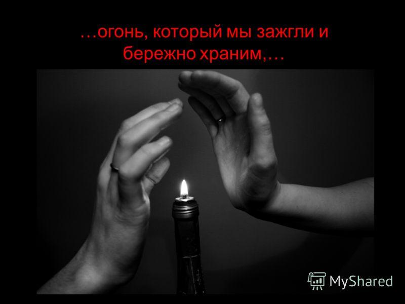 …огонь, который мы зажгли и бережно храним,…