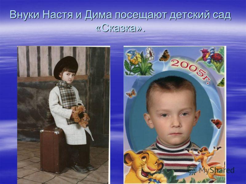 Внуки Настя и Дима посещают детский сад «Сказка».