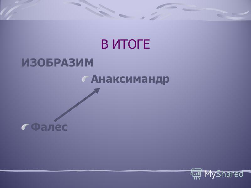 АНАКСИМАНДР СКОНСТРУИРОВАЛ СОЛНЕЧНЫЕ ЧАСЫ («ГНОМОН»), НАЧЕРТИЛ НА МЕДНОЙ ТАБЛИЧКЕ ГЕОГРАФИЧЕСКУЮ КАРТУ ЗЕМЛИ («ОЙКУМЕНУ»), КОТОРАЯ РАСПАДАЛАСЬ НА ДВЕ ЧАСТИ – ЕВРОПУ И АЗИЮ.