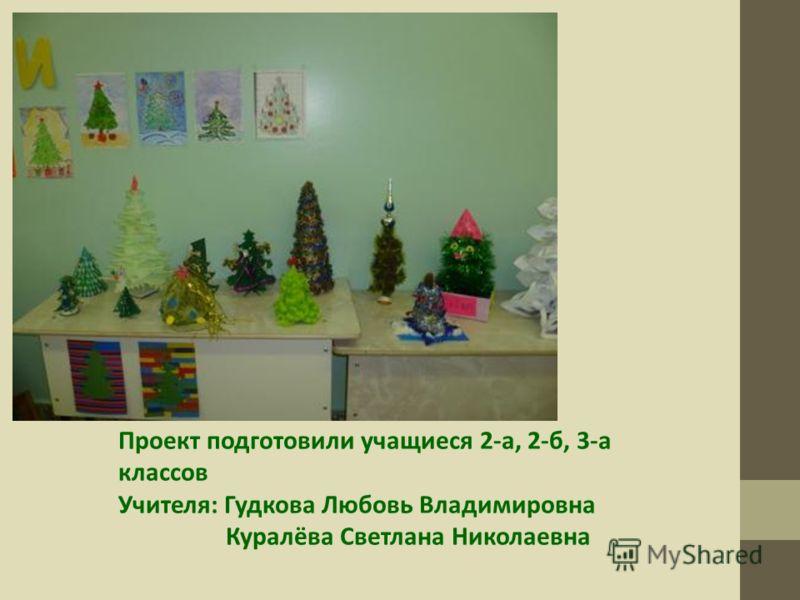 Проект подготовили учащиеся 2-а, 2-б, 3-а классов Учителя: Гудкова Любовь Владимировна Куралёва Светлана Николаевна