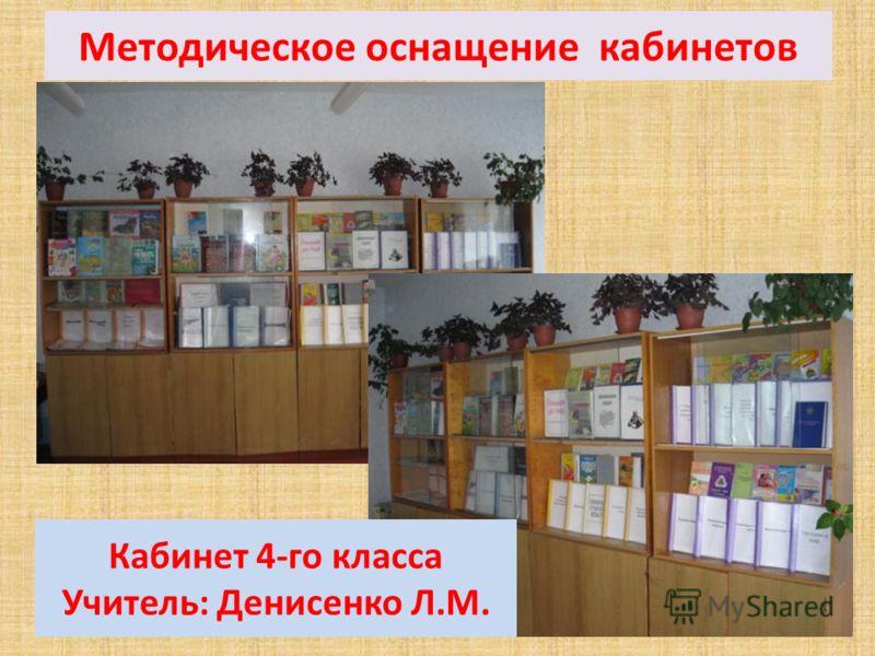 Методическое оснащение кабинетов Кабинет 2-го класса Учитель: Никифорова Т.Н.