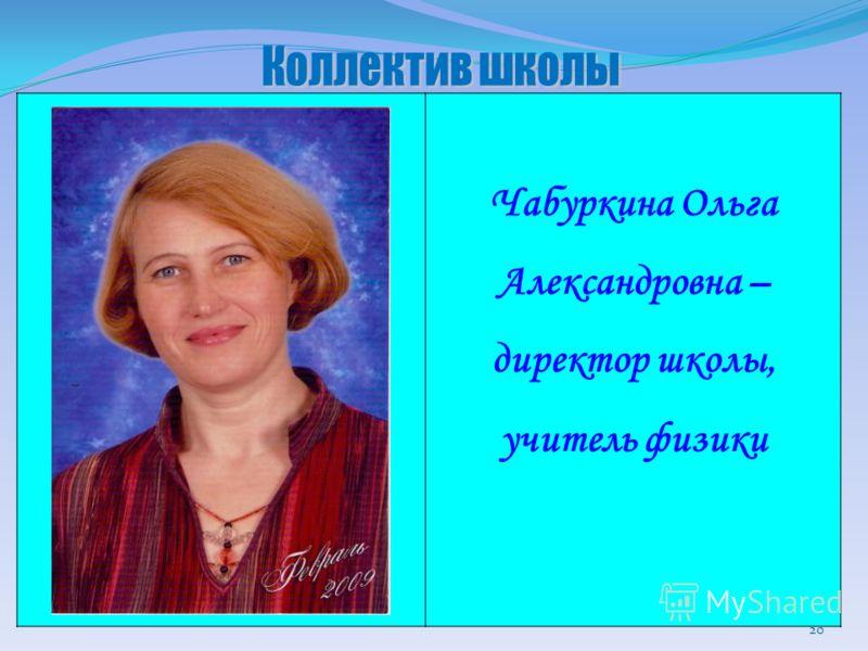 Чабуркина Ольга Александровна – директор школы, учитель физики 20