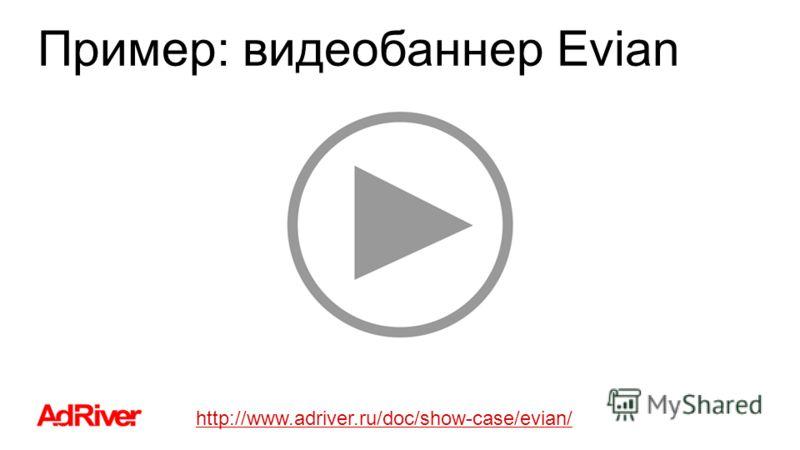 Пример: видеобаннер Evian http://www.adriver.ru/doc/show-case/evian/