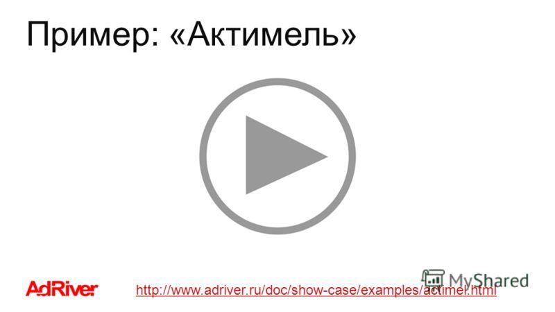 Пример: «Актимель» http://www.adriver.ru/doc/show-case/examples/actimel.html