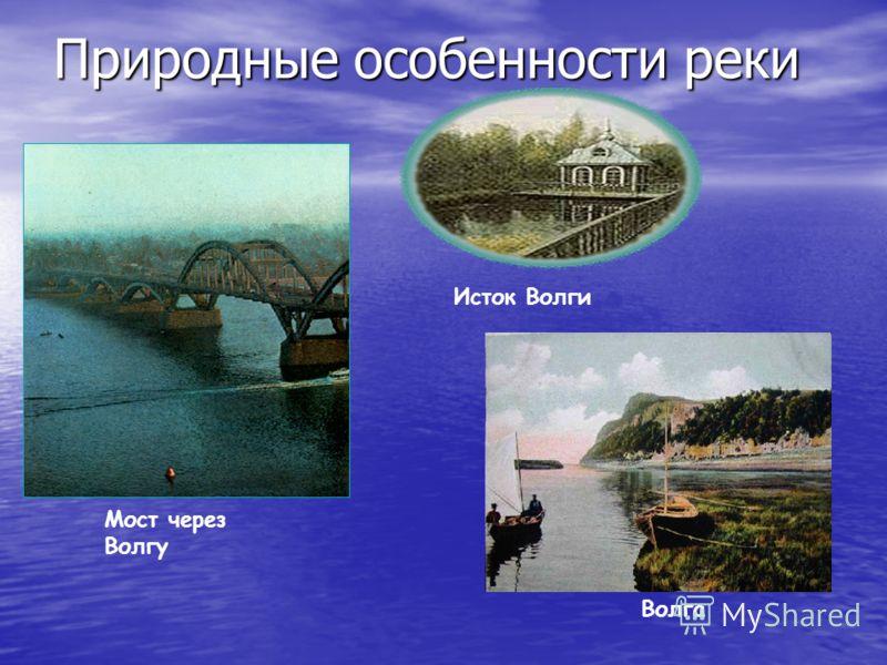 Природные особенности реки Исток Волги Мост через Волгу Волга
