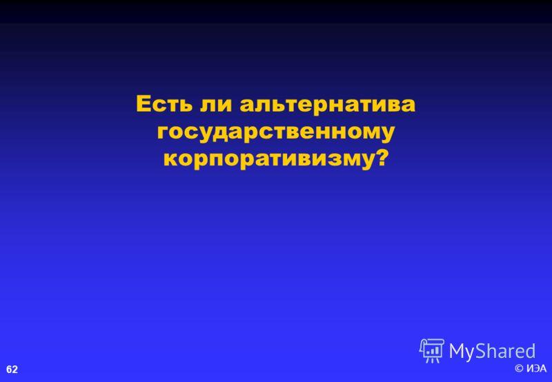 © ИЭА 62 Есть ли альтернатива государственному корпоративизму?