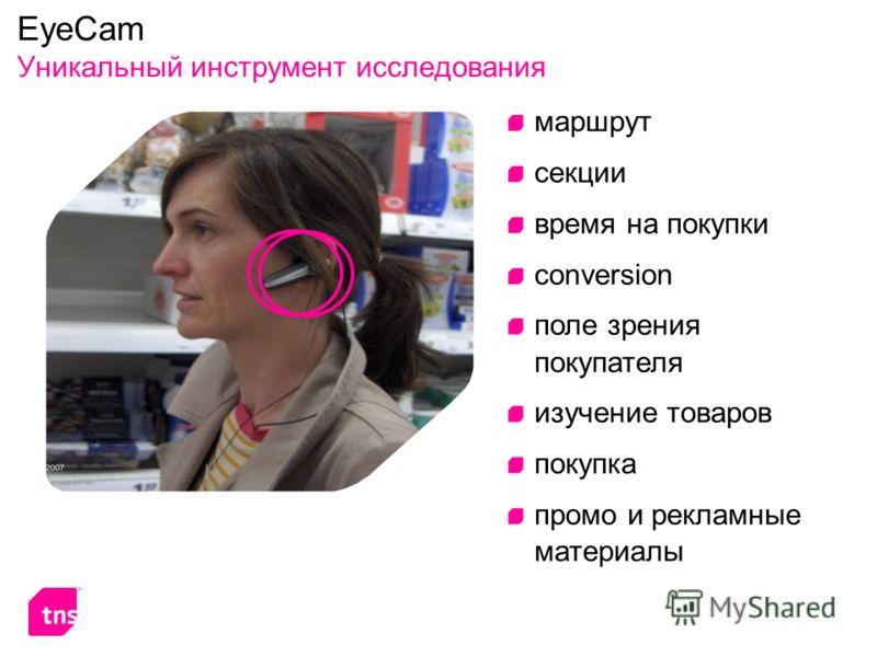 EyeCam Уникальный инструмент исследования маршрут секции время на покупки conversion поле зрения покупателя изучение товаров покупка промо и рекламные материалы