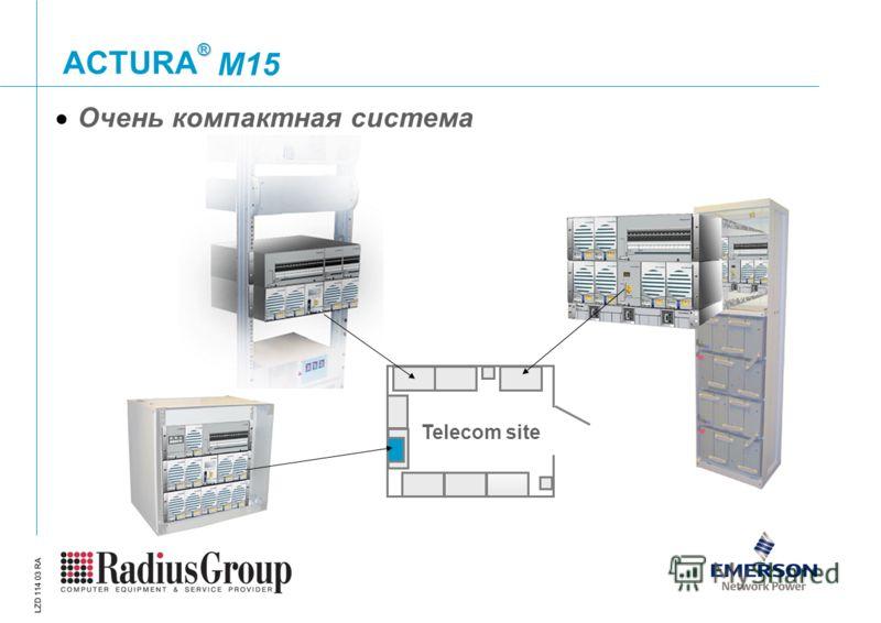 ® ACTURA LZD 114 03 RA Очень компактная система Telecom site M15