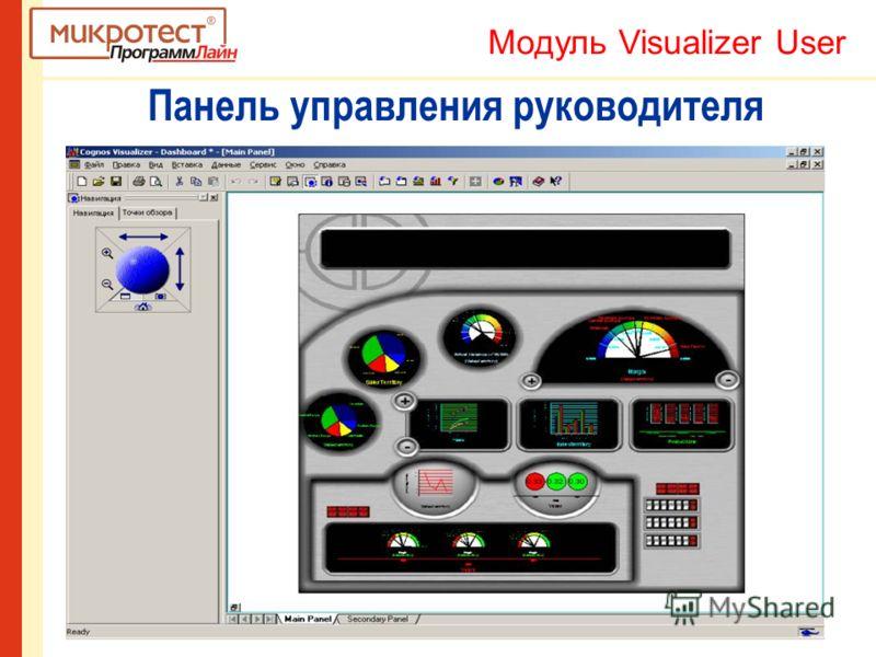 Панель управления руководителя Модуль Visualizer User