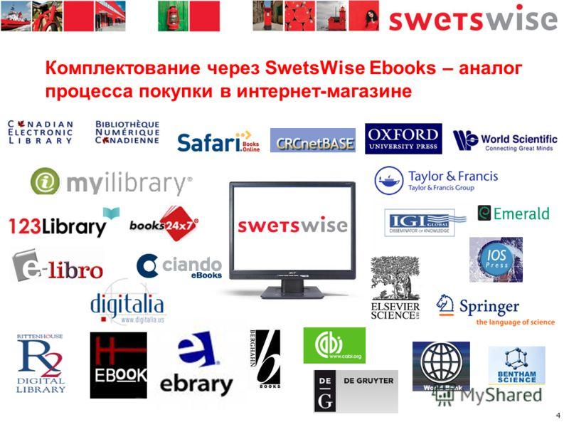 4 Комплектование через SwetsWise Ebooks – аналог процесса покупки в интернет-магазине