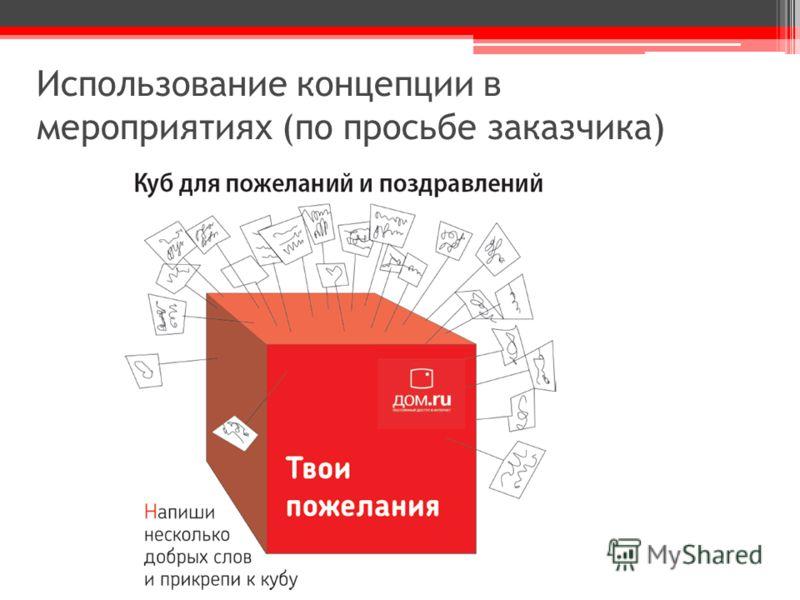 Использование концепции в мероприятиях (по просьбе заказчика)