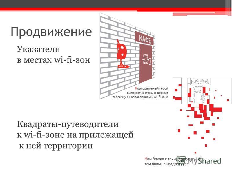 Продвижение Указатели в местах wi-fi-зон Квадраты-путеводители к wi-fi-зоне на прилежащей к ней территории