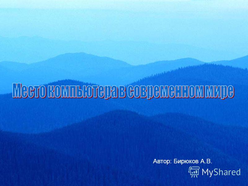 Автор: Бирюков А.В.