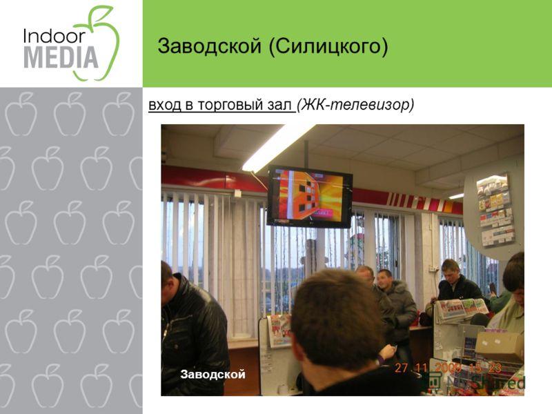 Заводской (Силицкого) вход в торговый зал (ЖК-телевизор) Заводской