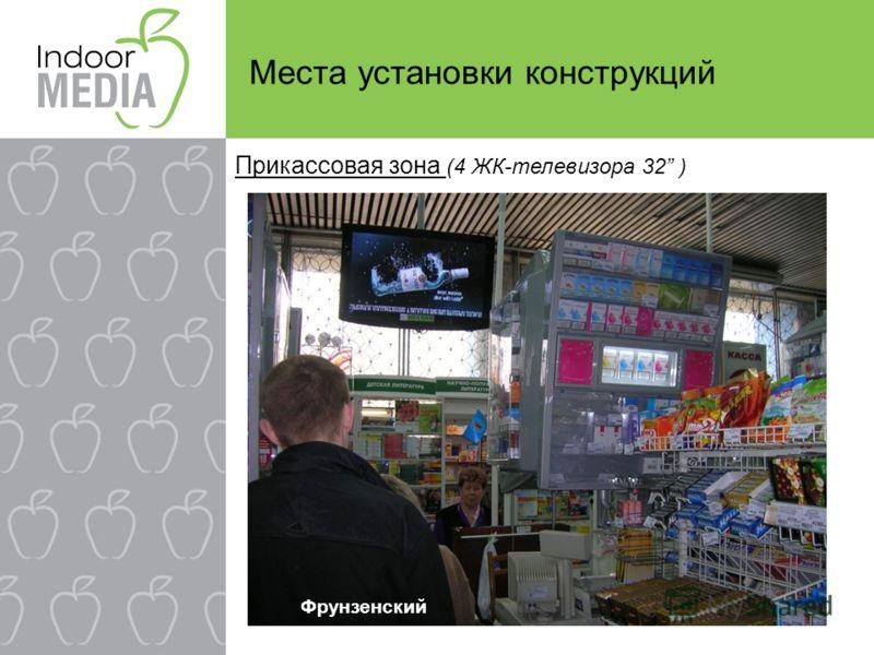 Места установки конструкций Прикассовая зона (4 ЖК-телевизора 32 ) Фрунзенский