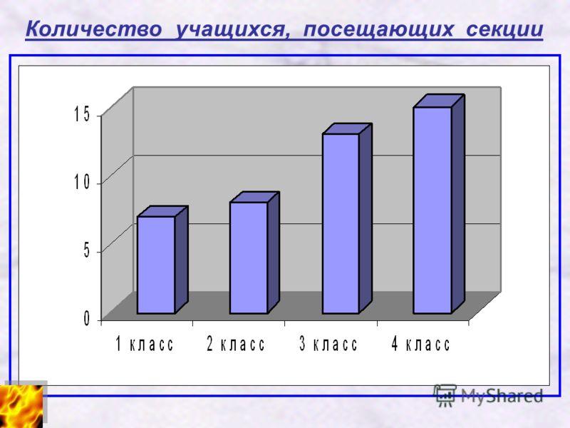 Количество учащихся, посещающих секции