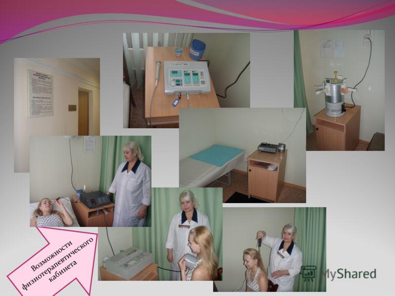 Возможности физиотерапевтического кабинета