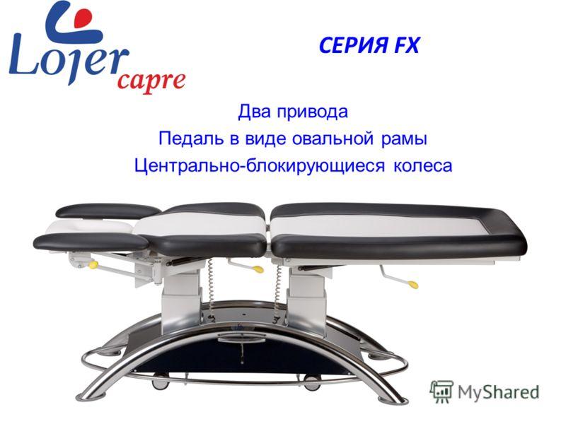 www.lojer.com Два привода Педаль в виде овальной рамы Центрально-блокирующиеся колеса СЕРИЯ FX