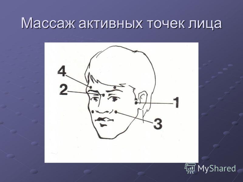 Массаж активных точек лица