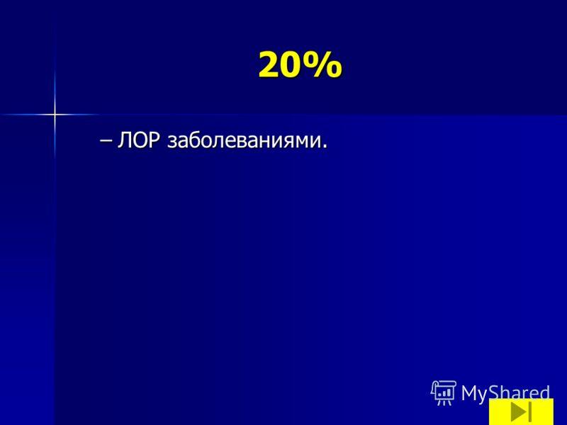 20% –ЛОР заболеваниями.
