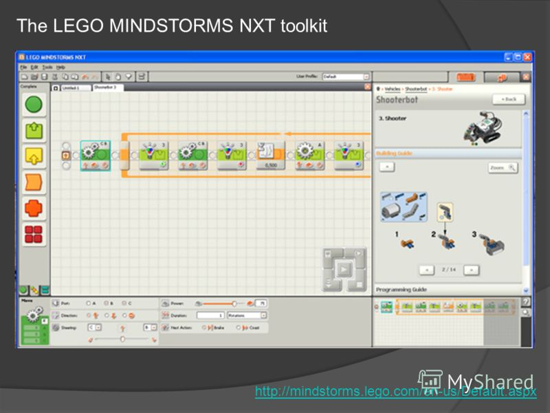 The LEGO MINDSTORMS NXT toolkit http://mindstorms.lego.com/en-us/Default.aspx