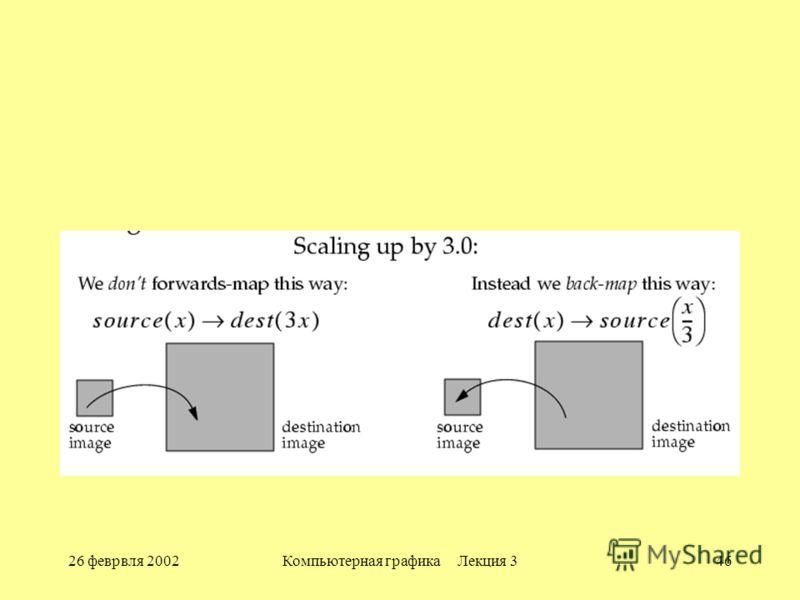 26 феврвля 2002Компьютерная графика Лекция 346