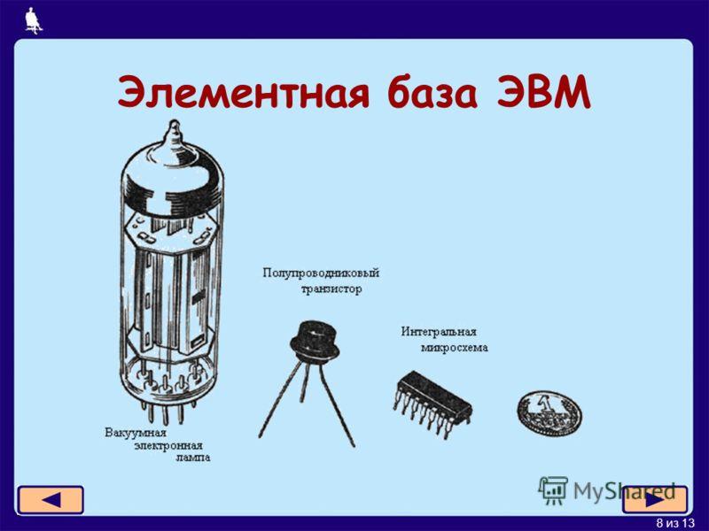 8 из 13 Элементная база ЭВМ