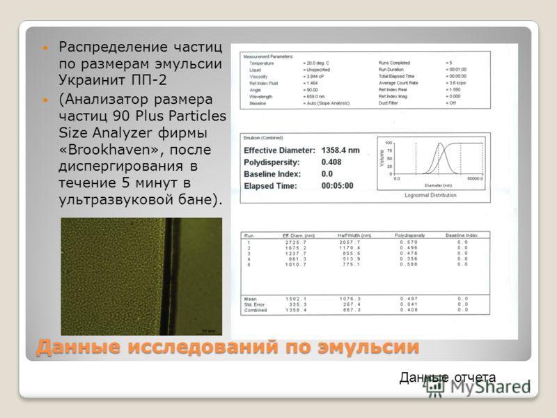 Состав Украинита ПП-2 3 Наименование компонента массовая доля, % Эмульсионная композиция: по составу согласно ТУ У 24.6-00190934-005-2006 99,00,2 Добавка газогенерирующая ГГД-У ТУ У 24.6-19436711-005- 2004 1,00,2