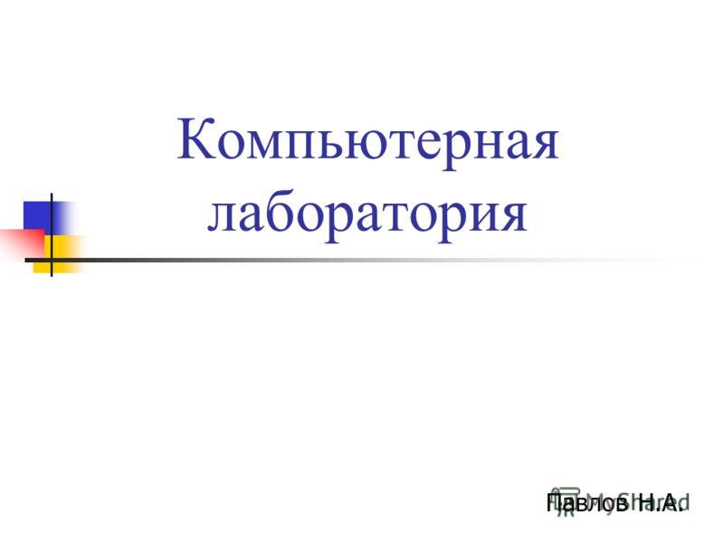 Компьютерная лаборатория Павлов Н.А.