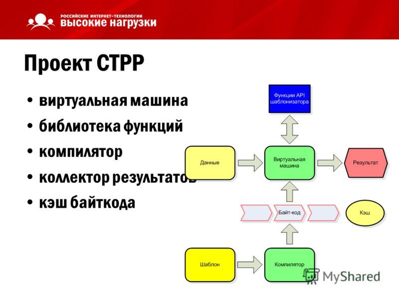 Проект CTPP виртуальная машина библиотека функций компилятор коллектор результатов кэш байткода