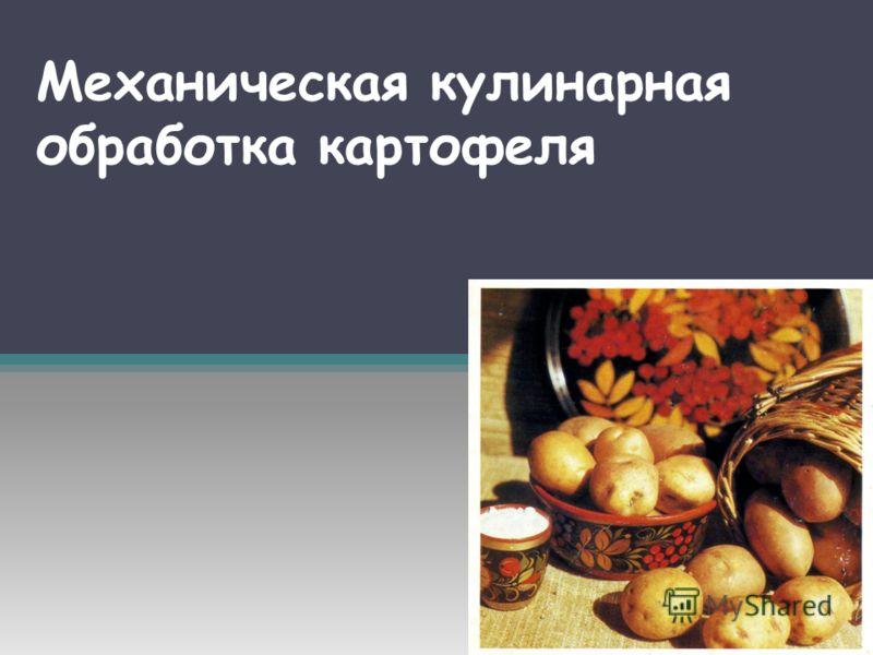 Механическая кулинарная обработка картофеля