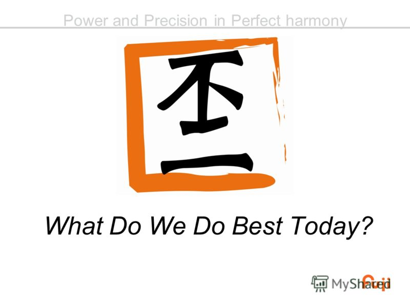 Power and Precision in Perfect harmony What Do We Do Best Today?