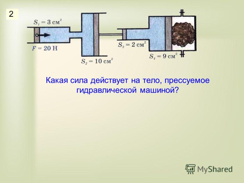 Какая сила действует на тело, прессуемое гидравлической машиной? 2