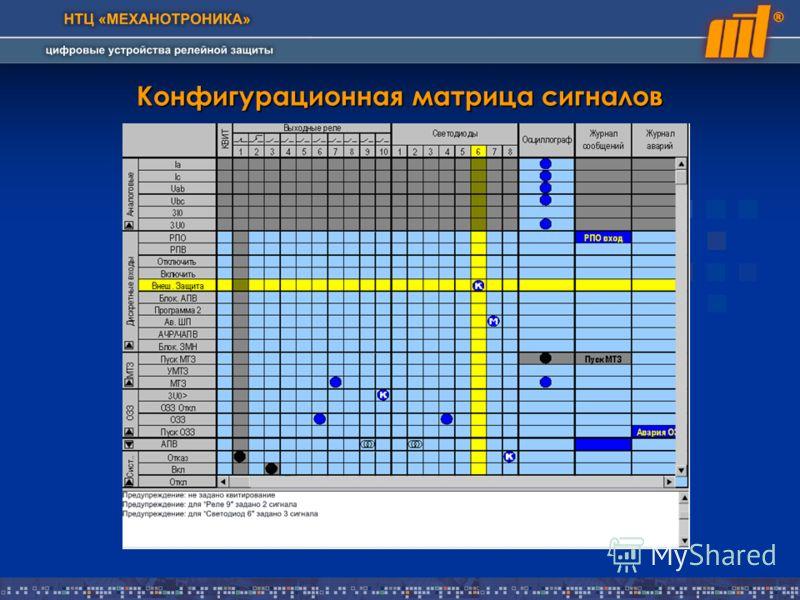 Конфигурационная матрица сигналов