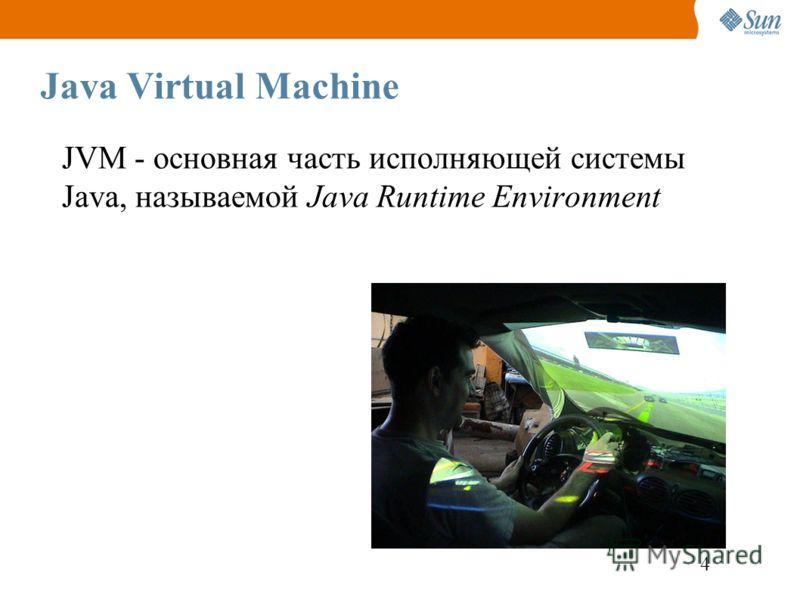 4 Java Virtual Machine JVM - основная часть исполняющей системы Java, называемой Java Runtime Environment