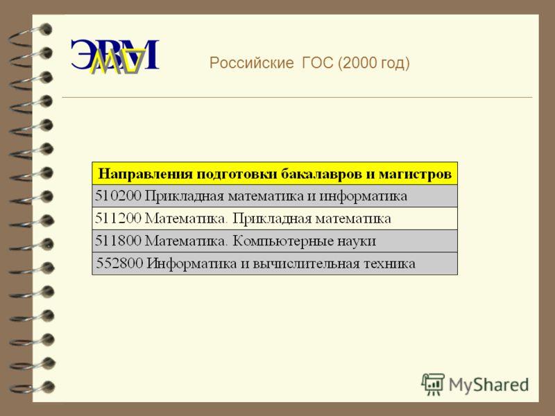 Российские ГОС (2000 год)