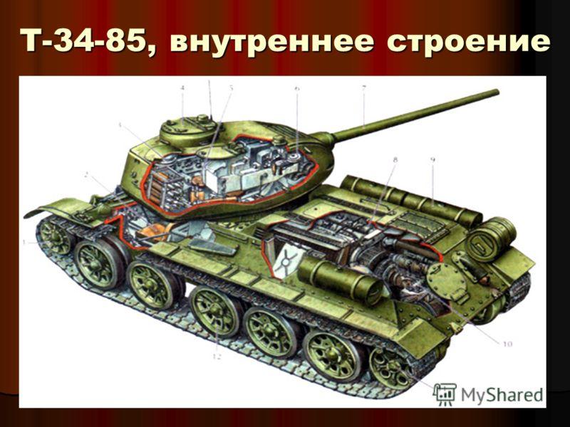 Т-34-85, внутреннее строение