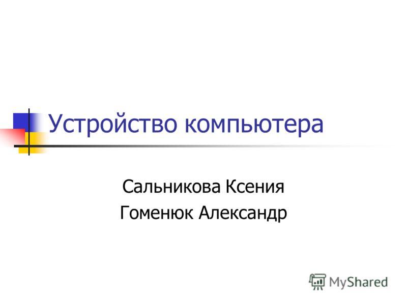Устройство компьютера Сальникова Ксения Гоменюк Александр