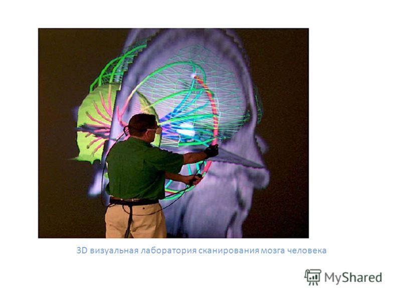 3D визуальная лаборатория сканирования мозга человека