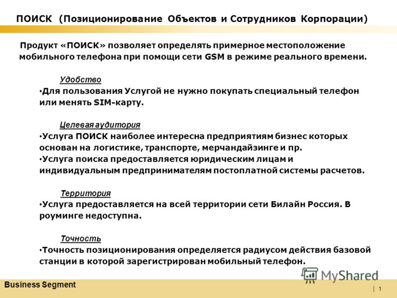 | ПОИСК Позиционирование Объектов и Сотрудников Корпорации 0