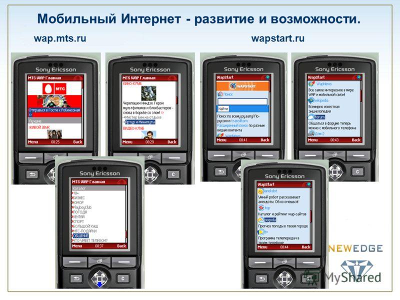 Мобильный Интернет - развитие и возможности. wap.mts.ruwapstart.ru