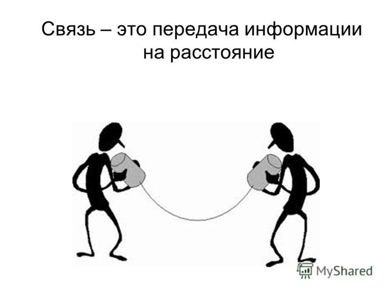 Связь – это передача информации на расстояние