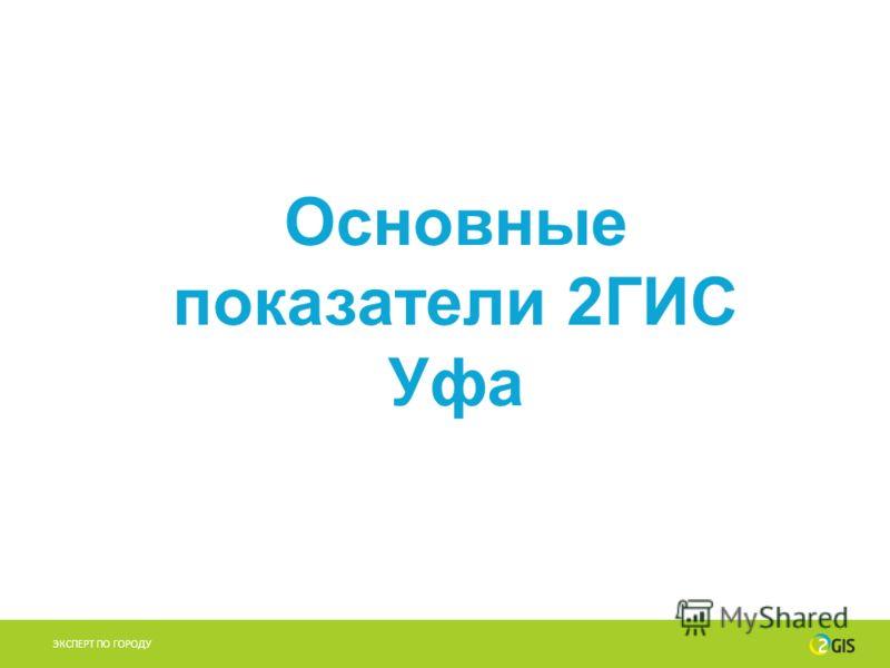 ЭКСПЕРТ ПО ГОРОДУ Основные показатели 2ГИС Уфа